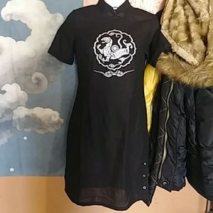 Awesome Black Qi Pao with Tiger size S